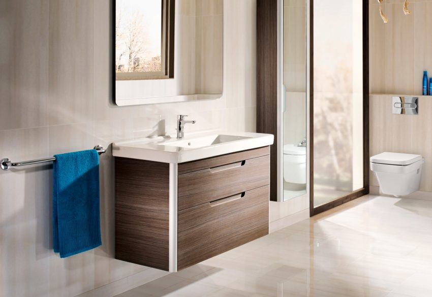 small corner vanity unit